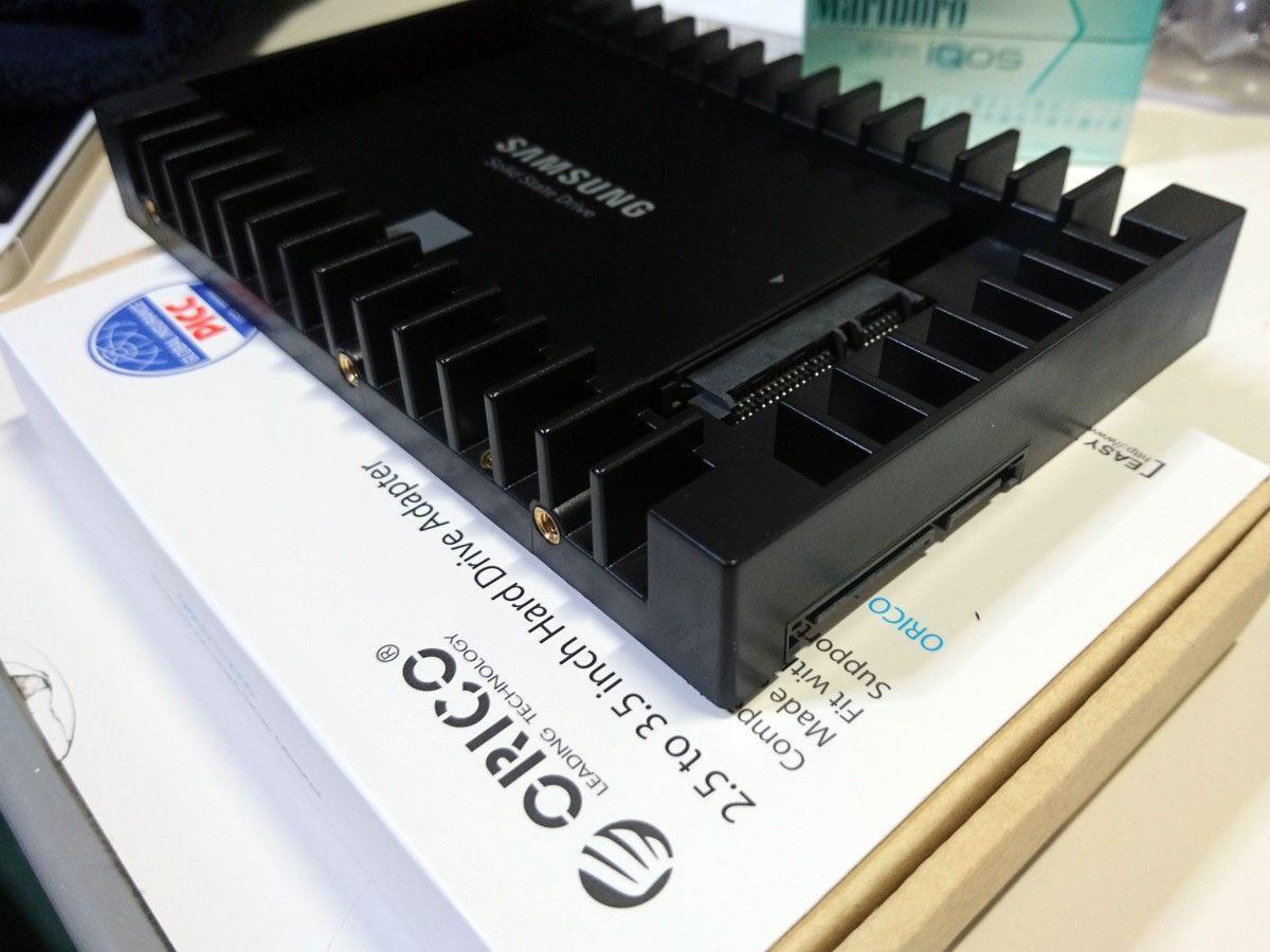 SSD/500GB+3.5インチアダプター