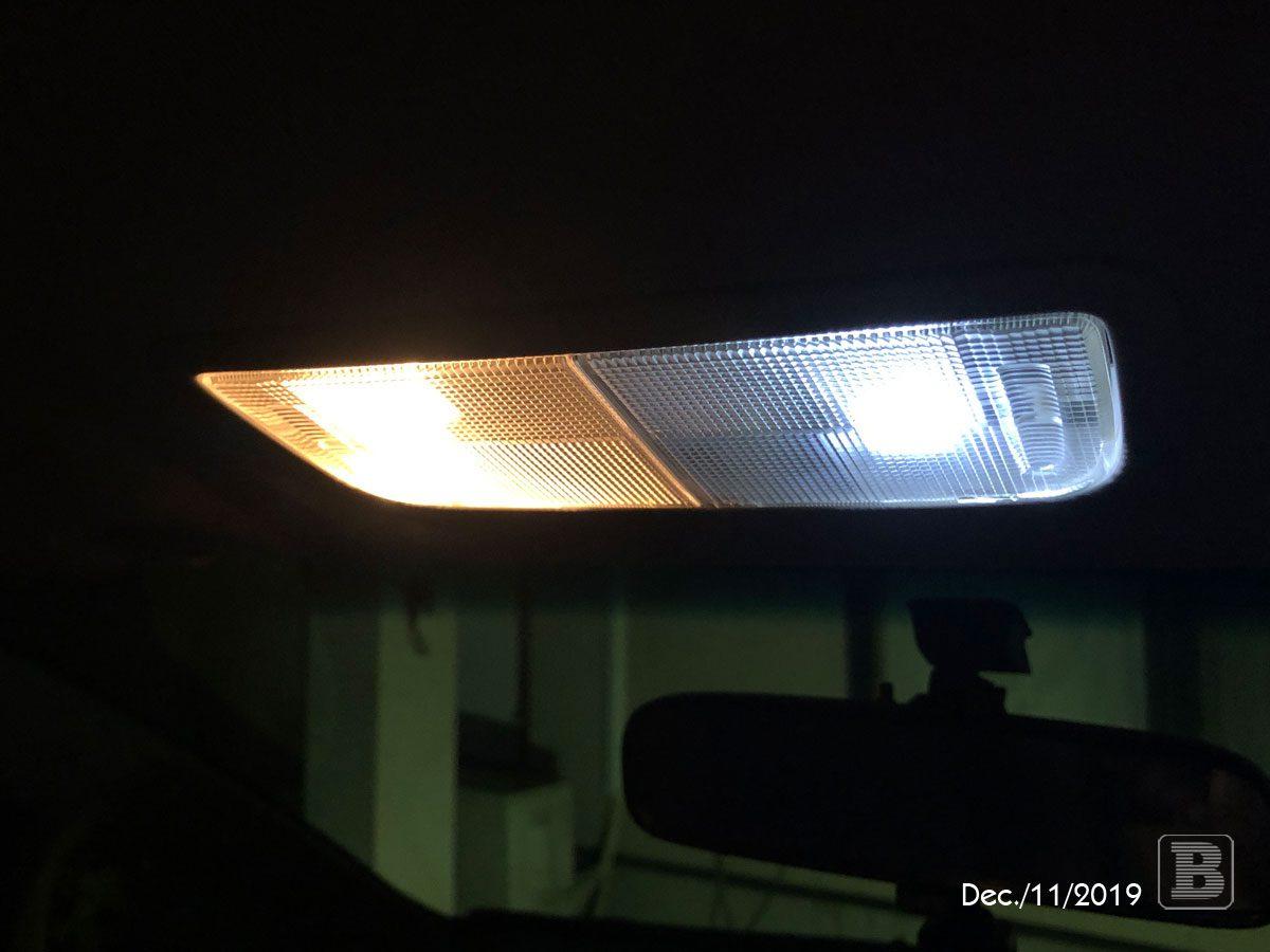 車のライトをLEDに変更
